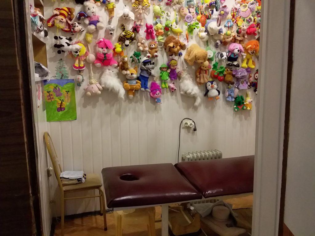 Кабинет для проведения массажа детей